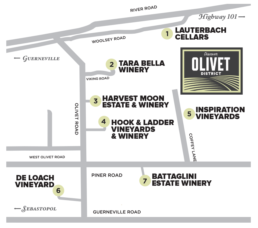 Discover Olivet District map